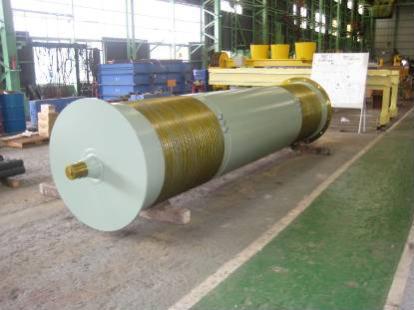 クレーン用巻上ドラムP.C.D1m、全長 5.1m